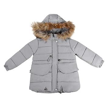d753646fb Amazon.com  Kintaz Little Girls  Winter Parka Down Coat Puffer ...