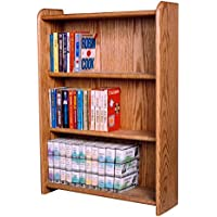 The Wood Shed 307B Solid Oak Bookcase, Honey