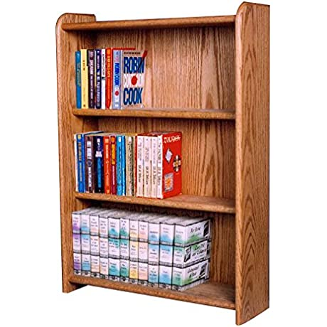 The Wood Shed 307B D Solid Oak Bookcase Dark