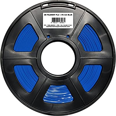 1.75 PLA FILAMENT 3D INK REFILL BLUE 1kg spool thermoplastic replacement tape cartridge. It does not break. It is not tangled on a reel. For printing on 3D printer pen replicator duplicator.