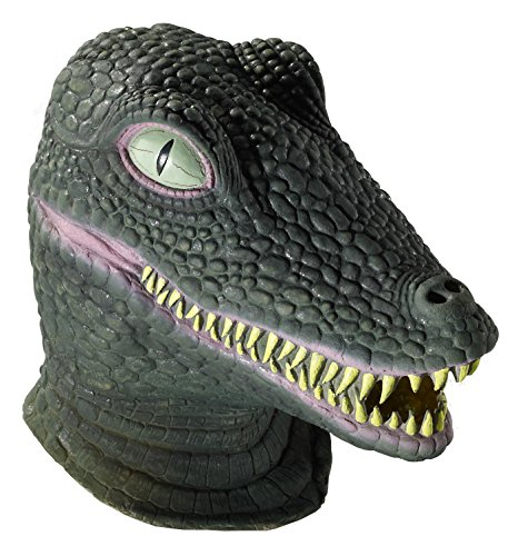 Forum Novelties Men's Deluxe Adult Latex Crocodile Mask, Multi Colored, One Size (Reptile Mask)