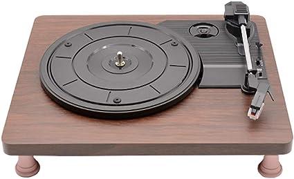 Muslady - Tocadiscos retro (vinilo, 33 rpm, 3,5 mm, USB, CC, 5 V ...