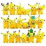 OliaDesign Pokemon Pikachu Action Figures Toy (Lot of 18 Piece), 1.8″