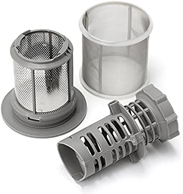 TOOGOO Juego de filtro de malla de 2 piezas para lavavajillas PP gris para lavavajillas Bosch 427903 Reemplazo de la serie 170740 para lavavajillas