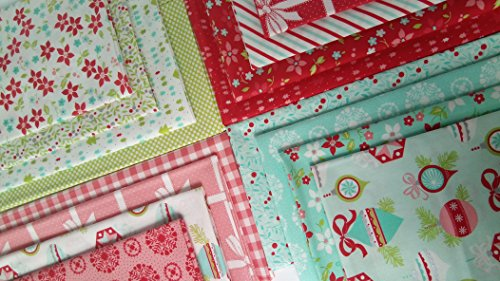 Fabric 4 Fat Quarters - VINTAGE HOLIDAY Bonnie and Camille Christmas Fabric Moda Fabrics Cotton Quilting ~ 16 fat quarters ~ 4 yards total