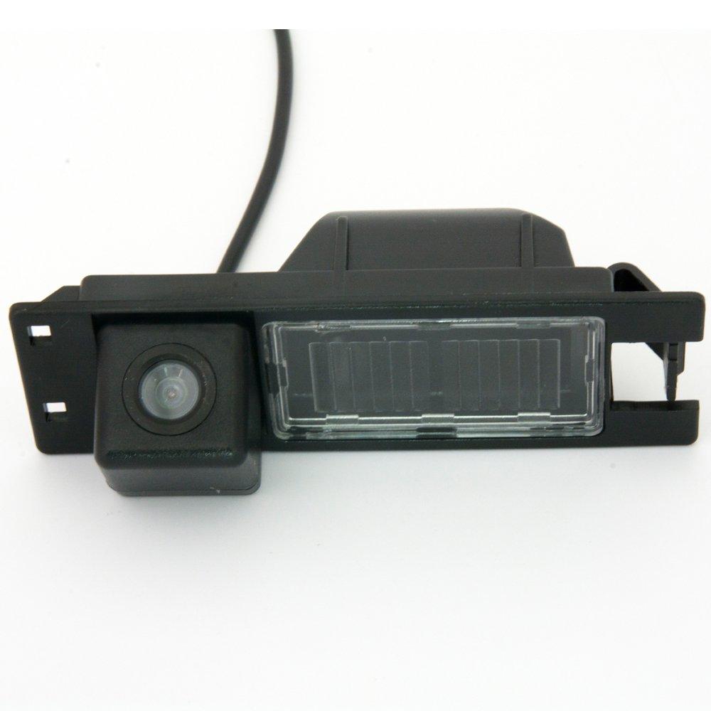 Navinio Telecamere posteriori in luce targa ( NTSC ) Nero per Astra H/Corsa D/Meriva A/Vectra C/Zafira B, FIAT Grande Punto Meriva NV8039BGE-FBA