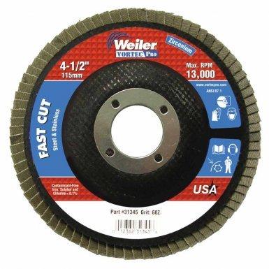 Weiler - Vortec Pro Abrasive Flap Discs (10 Pack)