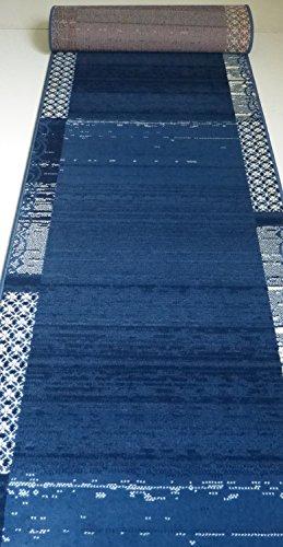 Teppich Läufer nach Maß Blau 2109 Flur lfm. 13,90 Euro Breite 80 x 600 cm