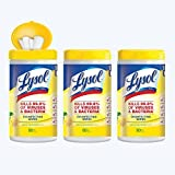 Lysol Disinfecting Wipes Value Pack, Lemon and Lime Blossom, 240 Count (Pack of 12)