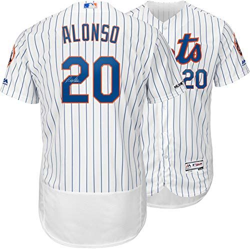 (Pete Alonso New York Mets Autographed White Majestic Authentic Jersey - Fanatics Authentic Certified)
