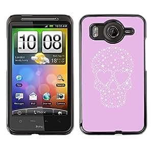 Cubierta de la caja de protección la piel dura para el HTC DESIRE HD / G10 - stars love heart punk crystal