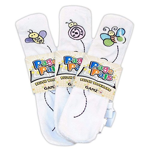 Pals Springtime (Page Pals Plush Bookmark - Spring Series Set of 3, Butterfly, Bee, Ladybug.)