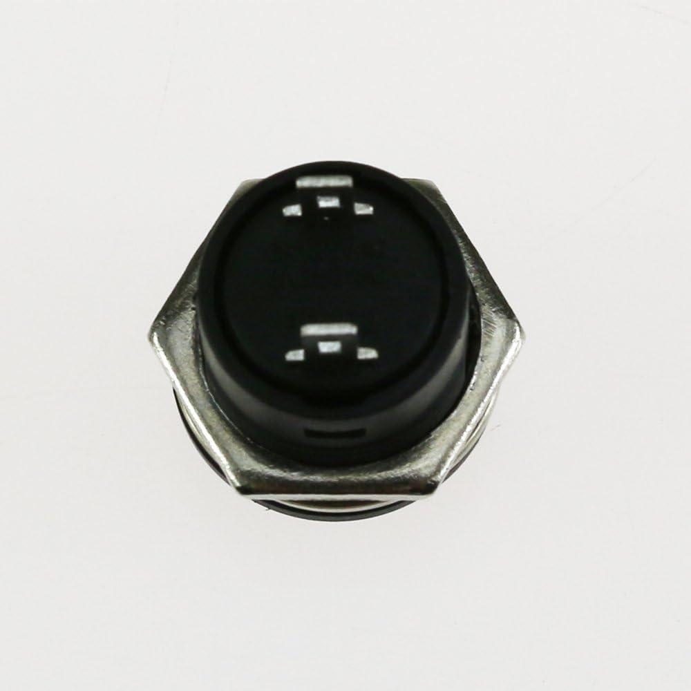OFF Bouton-poussoir momentan/é Interrupteur dalimentation rouge vert bleu jaune blanc noir bouchon rond AC 6A 250V 125V 3A Bouton-poussoir 18 pi/èces ON