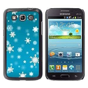 Paccase / SLIM PC / Aliminium Casa Carcasa Funda Case Cover - Winter Blue Bright Snow - Samsung Galaxy Win I8550 I8552 Grand Quattro