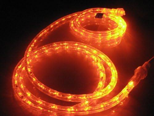 Amazon 10ft rope lights orange deep amber led rope light kit double tap to zoom aloadofball Choice Image