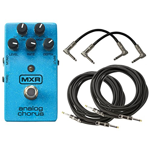 MXR M234 Analog Chorus Pedal with 4 Free Cables!