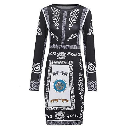 OldSch001 Bodycon Dress Short Sleeve Ruched Sides Knee Length Shirred Dress (Black,L)