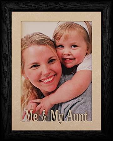5x7 jumbo me my aunt portrait picture frame laser cream marble mat with
