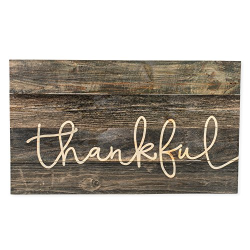 P. Graham Dunn Thankful Grey Distressed 24 x 14 Inch for sale  Delivered anywhere in USA