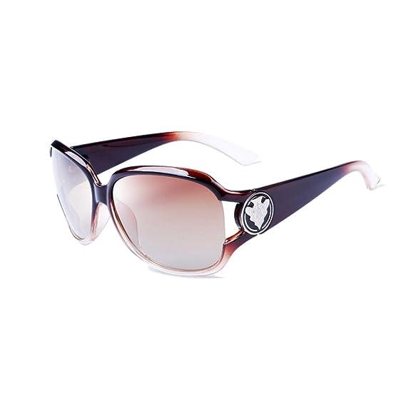 VeBrellen Damen Mode Polarisiert Oversize Sonnenbrille 100% UV-Schutz VS005 (Brown) 4HF5ZZdpdp