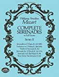 Complete Serenades in Full Score, Wolfgang Amadeus Mozart, 0486265668