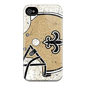 Durable Defender Case For Iphone 4/4s Tpu Cover(new Orleans Saints)