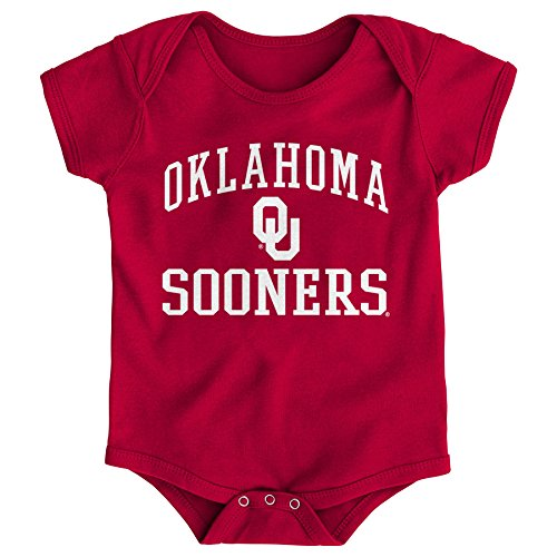 Gen 2 NCAA Oklahoma Sooners Newborn & Infant Primary Logo Bodysuit, 6-9 Months, Cardinal (Ou Logo)