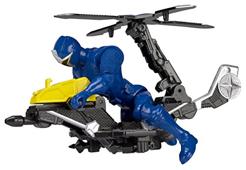 Power Rangers Ninja Steel Mega Morph Copter with 5-Inch Blue Ranger Figure
