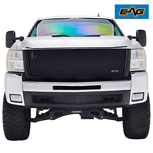 2500 Hd 1500 3500 Grille - EAG Replacement Grille Black Stainless Steel Wire Mesh with ABS Shell Fit for 07-10 Chevy SilveradoHD