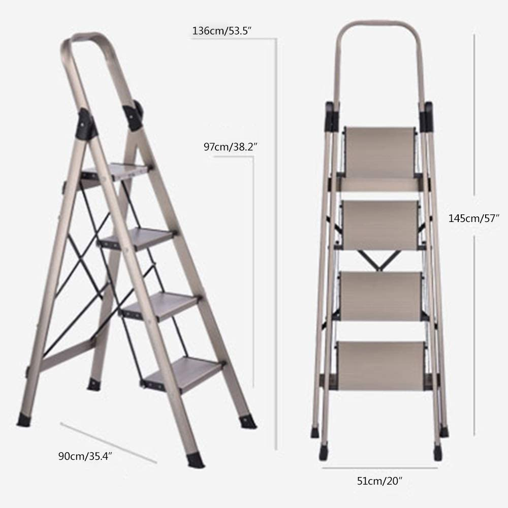 SED Escaleras de tijera multiusos escalera de madera plegable de 6 escalones para taburete antideslizante Ascend de /ático