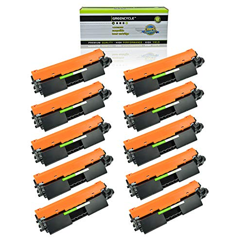 GREENCYCLE Compatible 30A CF230A Toner Cartridge Replacement for HP Laserjet Pro M203d M203dn M203dw MFP M227d MFP M227fdn MFP M227fdw MFP M227sdn Laser Printers with IC Chip (Black, 10 Pack) (Ic Premium Chip)
