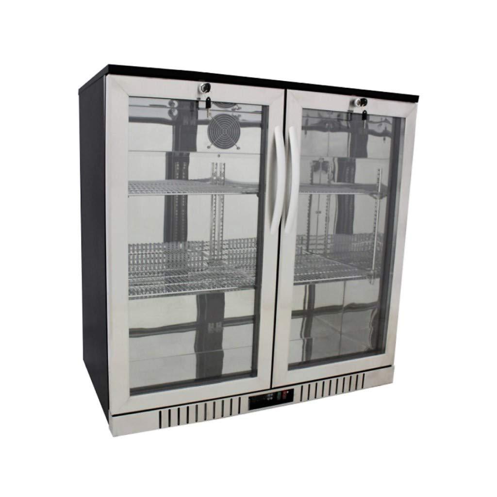"""New 36"""" Wide 2-door Stainless Steel Back Bar Beverage Cooler"""