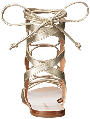 Platino para conejito Gladiador mujer Sandalias Sigerson Morrison de xw08Avq7p