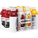 vitaminwater zero variety pack nutrient enhanced water w/vitamins, 20 fl oz, 12 Pack,