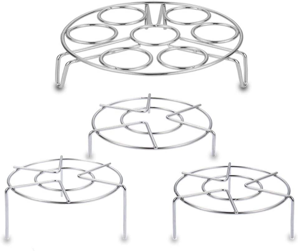 4 Packs Stainless Steel Trivet Rack Stands,Heavy Duty Pressure Cooker Steam Rack,Egg Steamer Rack,Pot Pan Cooking Holder Kitchen Cooker Accessories
