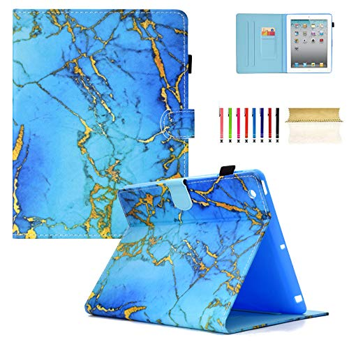 Casii iPad 2/3/4 Case 9.7 Inch,Ultra Slim Premium Flexible Soft PU Leather Folio Stand Protective Smart Cover Case with Kickstand Card Slots Auto Wake/Sleep for 9.7