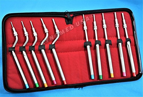 NEW GERMAN STAINLESS Sinus Lift Osteotomes Kit Straight Off Set Concave Dental Implant Instrument CE-A+ QUALITY by Cynamedusa (Image #2)