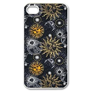 Sun Moon Pattern Unique Fashion Printing Phone Case for Iphone 4,4S,personalized cover case ygtg543368