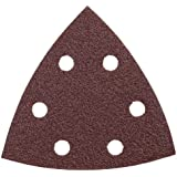 Bosch SDTR060 Detail Triangle, Hook & Loop Sanding Sheet, Red, 60 Grit, 5-Pack