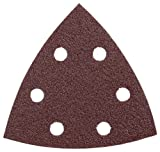 Bosch SDTR040 Detail Triangle, Hook & Loop Sanding Sheet, Red, 40 Grit, 5-Pack
