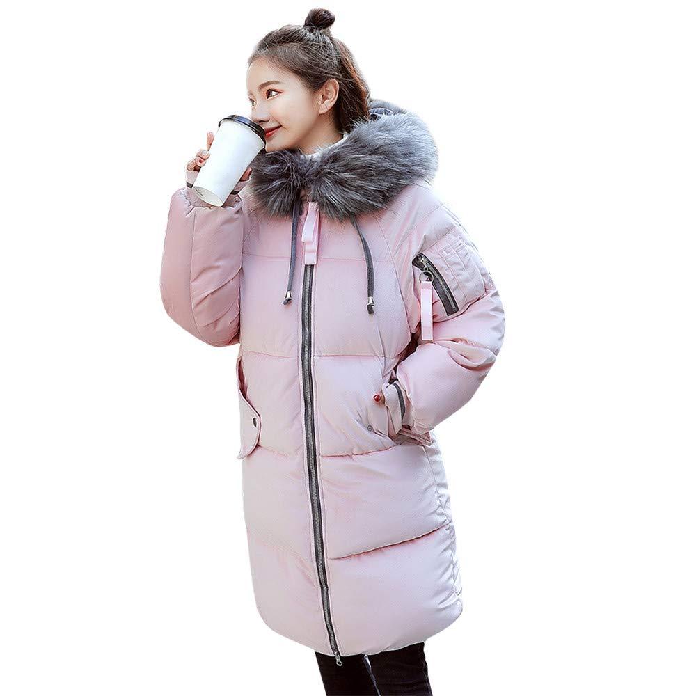 Seaintheson Women's Coats OUTERWEAR レディース B07HRD28M6 Medium|ピンク ピンク Medium