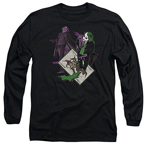 Bat Long Sleeve T-shirt - Trevco Men's Batman Dark Knight Longsleeve T-Shirt, Wild Black, Large