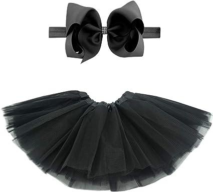 Newborn Baby Halloween Black Orange Dots Pettiskirt Skirt Dance Tutu Dress 3-12M