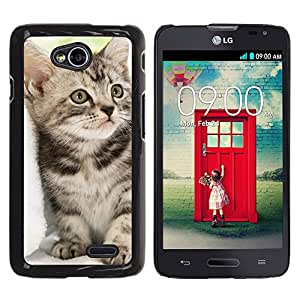 Graphic4You Baby Cat Animal Design Hard Case Cover for LG Optimus L70 Dual