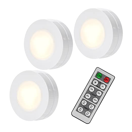 Litake Under Cabinet Lights Wireless Led Puck Lights Remote Control