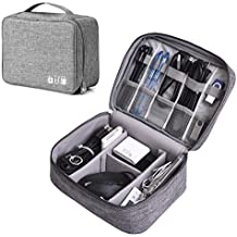Electronics Organizer, AURTEC Digital Accessories Cable Organizer Bag Waterproof Travel Cable Storage Bag Protects USB Drives, Memory Cards, Chargers, Cords, Adaptors and Other Device Accessories