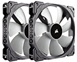 fan 140 - Corsair ML140, 140mm Premium Magnetic Levitation Fan (2-Pack)