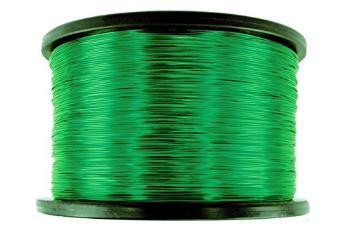 TEMCo 24 AWG Copper Magnet Wire - 5 lb 3953 ft 155°C Magnetic Coil Green