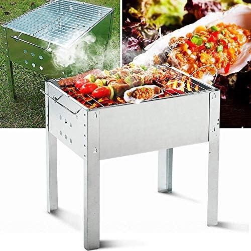 Wghz Ensemble de Barbecue Pliant Barbecue Portable Barbecue Barbecue au Charbon de Bois, avec poignée et Grillage en Acier Inoxydable pour Barbecue, pour Jardin de Pique-Nique