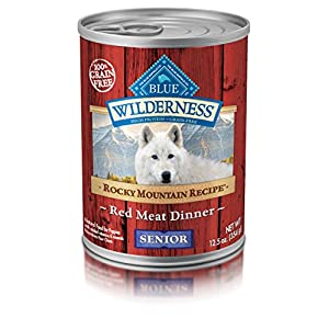 Blue Buffalo Wilderness Rocky Mountain Recipe High Protein Grain Free, Natural Senior Wet Dog Food, Red Meat 12.5-Oz Can (Pack Of 12) 85